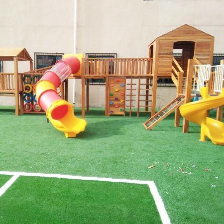 幼儿园实木玩具 幼儿园室外实木滑滑梯 厂家定制直供