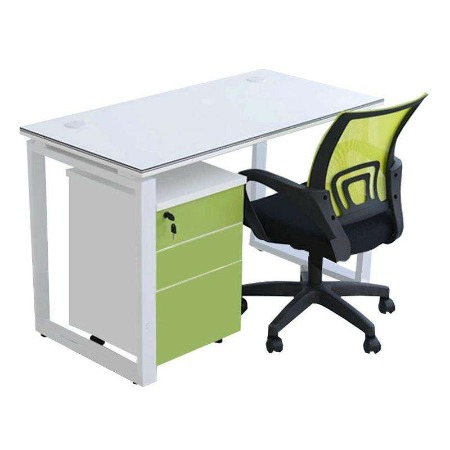 钢架办公桌_现代简约四人位_工作位卡位_职员电脑桌_福州厂家批发