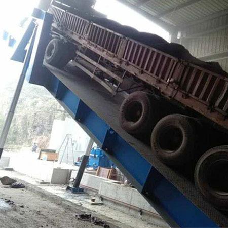 河南新乡盛达液压翻板机 侧翻式卸车机 后翻式卸货平台