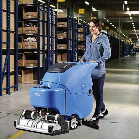依晨手推式全自动洗地机 小型电动多功能洗扫一体机 吸水擦地电瓶式依晨YZ-XS650擦地机