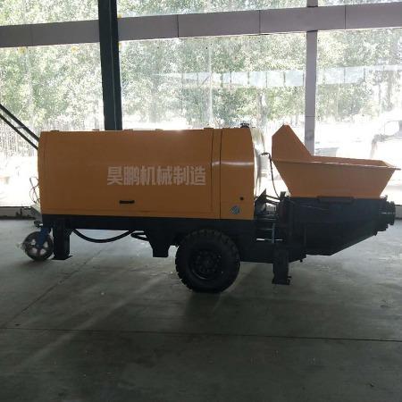 卧式二次构造专用输送泵 小型细石砂浆输送泵 二次构造柱浇筑泵