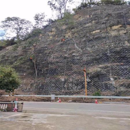 厂家直销 绿化柔性护坡拦石钢丝绳网 主动边坡防护网可定制