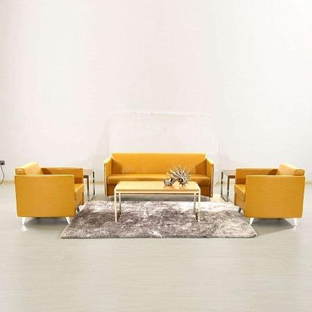 福州商务会议室办公沙发 现代西皮公司休息区 接待室沙发组合 姿茹办公家具