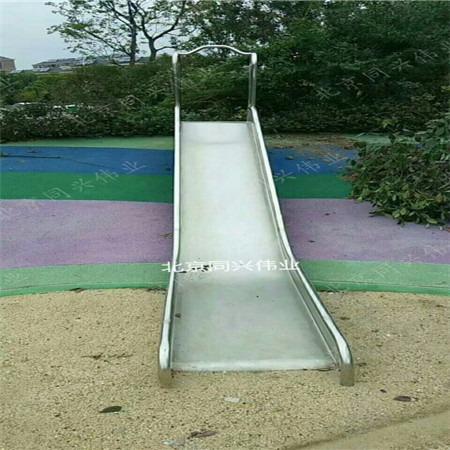 304不锈钢滑梯定制 幼儿园不锈钢滑梯 木质组合滑梯 新颖儿童乐园滑滑梯