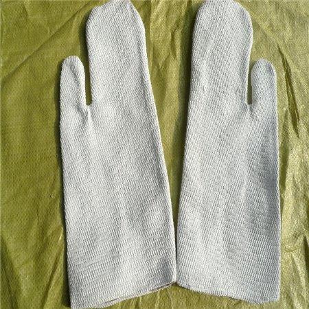 长款五指型防火手套  隔热耐高温 石棉 劳保手套
