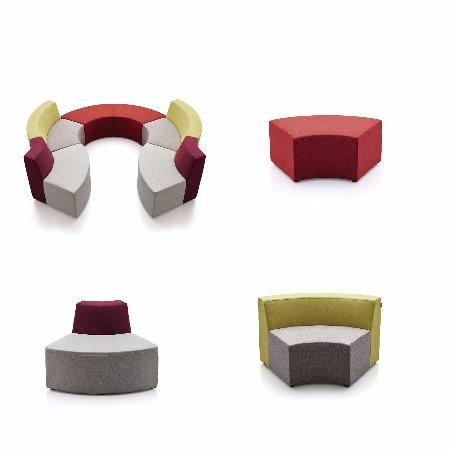柜都家具南京办公沙发现代接待休息区组合异形创意沙发