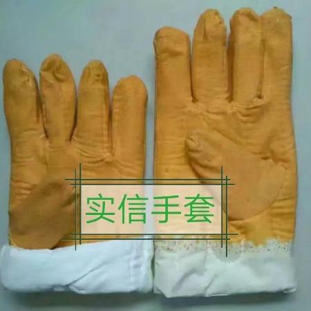 油田丁晴涂胶棉手套,防油棉手套,挂胶棉手套,黄乳胶棉手套