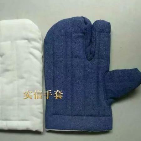 五指隔热手套,耐高温手套,耐热手套,防烫棉手套 ,二三指棉手套