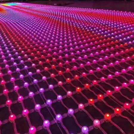led网格屏楼体亮化设计  点光源屏  全彩led显示屏厂家 质量保证