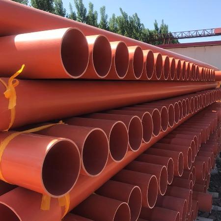 乐亭现货销售高压穿线cpvc电力管厂家橘红色高温扩口规格齐全