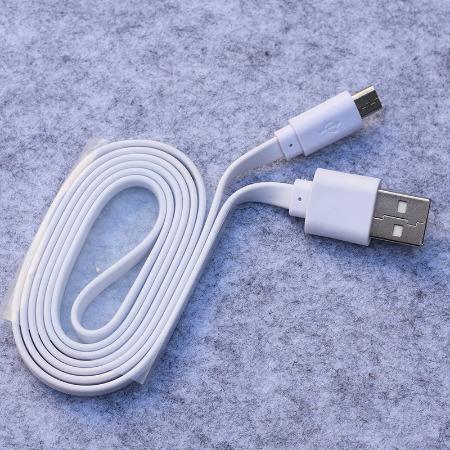 扁线1米白色扁usb线安卓接口面条扁线