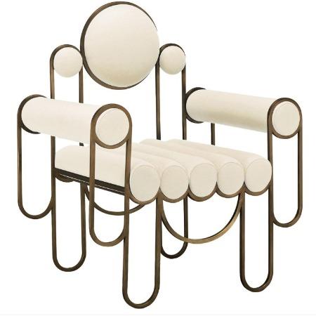 轻奢家具定制不锈钢艺术休闲椅 酒店大堂装饰艺术椅子 别墅会所样板房特色休闲椅手工定做