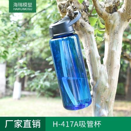 厂家直销 H-417A大容量吸管杯 户外运动水杯 运动水壶 大容量