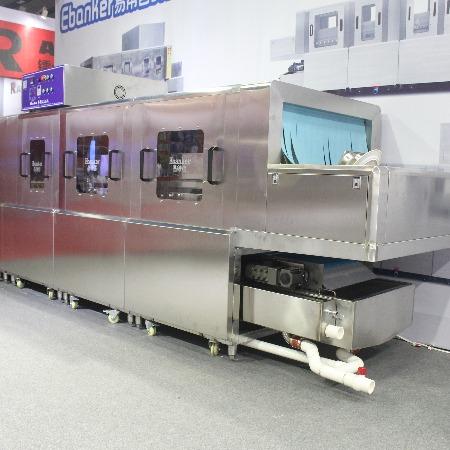 易帮客厂家新品上市一洗双漂单烘4.6米洗碗机占地面积小运转效率高,生产通道式长龙式履带式各款式洗碗机