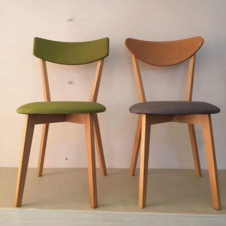 众美德餐饮店实木餐椅定做,北欧风实木椅子款式,咖啡厅火锅店餐厅餐椅定制厂家