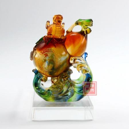 琉璃福禄摆件 貔貅福禄工艺礼品 古法琉璃商务礼品摆件定制