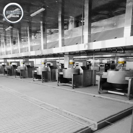 整套全新不锈钢中央厨房生产线设备结构 商用食堂中央厨房生产线批发