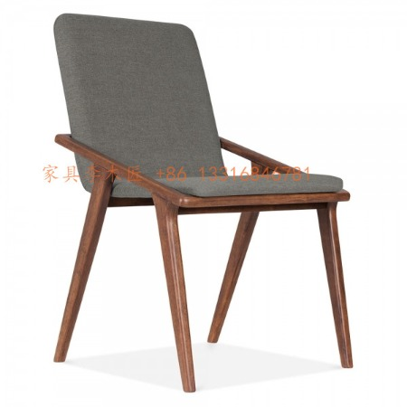 酒店餐椅厂家批量定做酒店椅子 西餐厅椅子 商业空间活动椅 售楼处营销接待中心洽谈椅 北欧胡桃木布艺椅