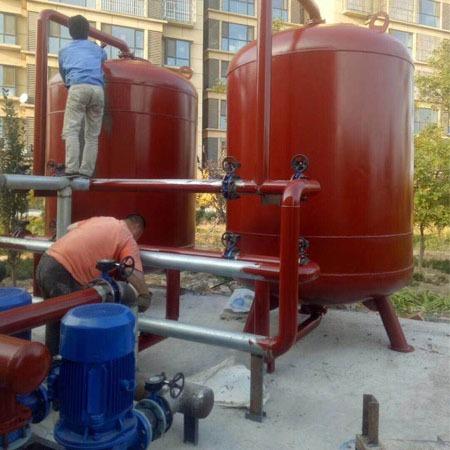 洗浴设备 地热井水间接利用厂家直销普铭电气