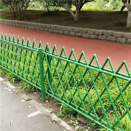 不锈钢仿竹护栏 景区园林绿化围栏 菜园果园篱笆栅栏 市政道路绿化带护栏