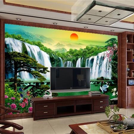 厂家供应 3D立体电视背景墙 中式 欧式 简约现代 集成墙板背景墙