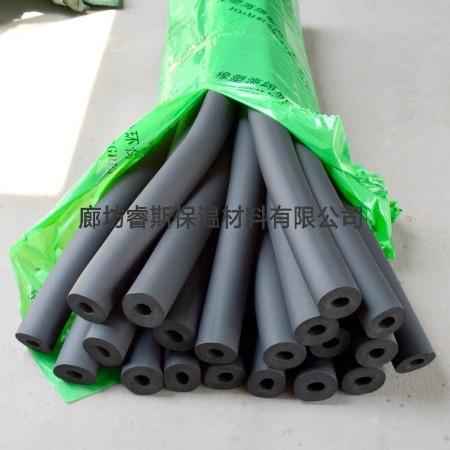 厂家直销  阻燃橡塑海绵管  高密度空调保温橡塑管  防火隔热保温橡塑空调管