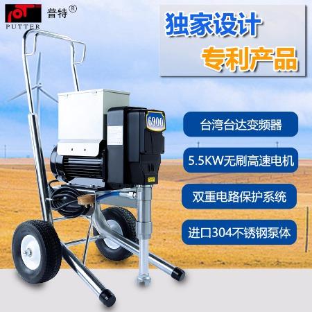 无锡普田PT6900电动柱塞式高压无气喷涂机防水涂料喷涂机设备厂家