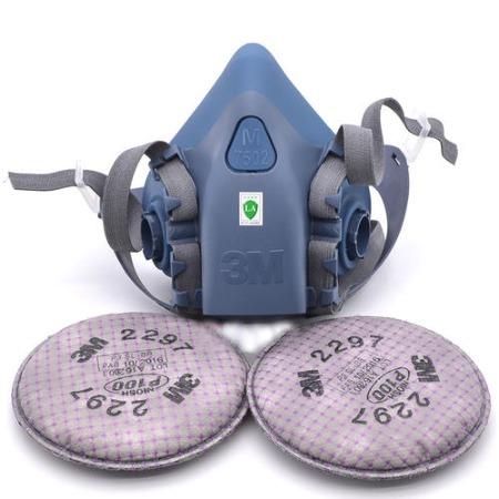 出售3M硅胶防毒面具 喷漆防甲醛防护面罩7502