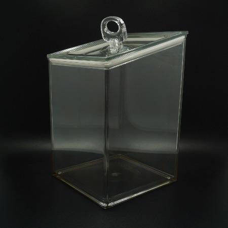 PC透明食品级食品收纳盒 带盖子储藏盒子 高档无毒高透食物展示盒