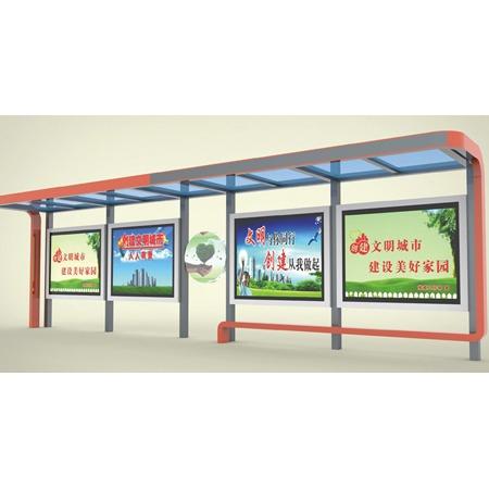 公交车站台 城市公交车站台 鸿鑫嘉和厂家直销 仿古候车亭 不锈钢候车亭