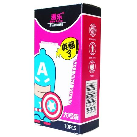 激乐超级英雄系列大号避孕套安全套成人日用品批发