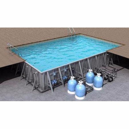 户外 大型露天游泳池 专业设计露天游泳池厂家 北京泳悦