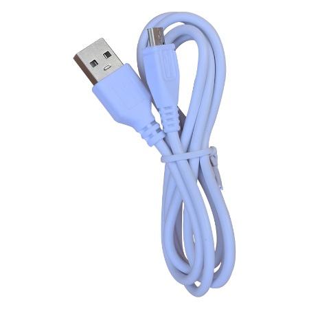 USB两芯充电线 白色1米安卓充电线 冷风机1安充电线