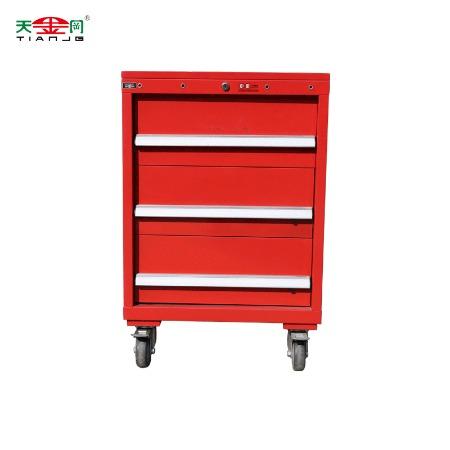 昆山天金冈红色3抽工具柜  移动工具柜