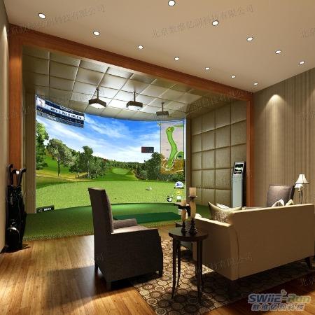 模拟高尔夫 室内模拟高尔夫  室内高夫模拟器 E-Run 豪华型模拟高尔夫