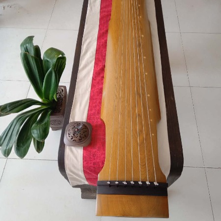 扬州范学强斫琴师亲斫仲尼式15万收藏古琴,收藏佳品