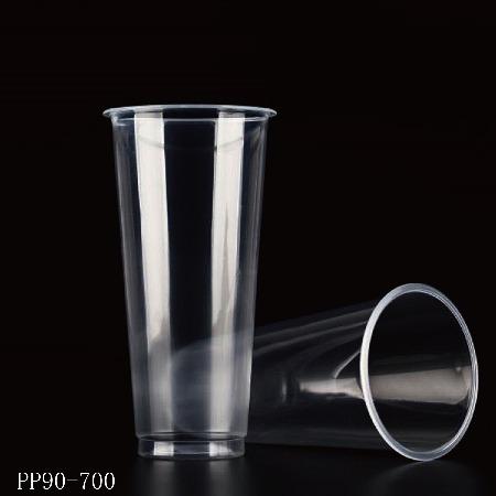 四川达州雅安PP注塑磨砂奶茶杯定做,塑料胶杯高透冷饮奶茶杯定做厂家