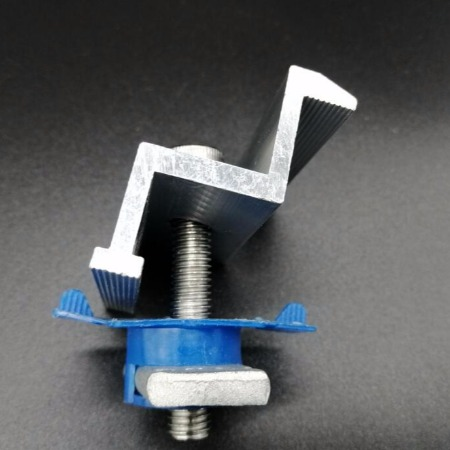 光伏支架配件 铝合金中压块边压块侧压块套装批发 太阳能发电配件