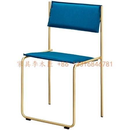 轻奢家具不锈钢布艺餐椅洽谈椅定制厂家 餐厅菜馆座椅 轻奢风格接待椅会议椅 图书馆阅读椅公寓配套椅子