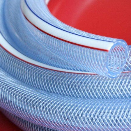 金泽管业厂家直销透明pvc软管耐磨耐高温复合螺旋增强软管