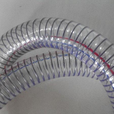 供应食品级pvc纤维增强软管   耐高温钢丝软管     PVC透明钢丝管
