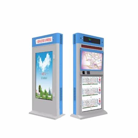 显石智能户外电子公交站牌厂家 电子公交系统广告机