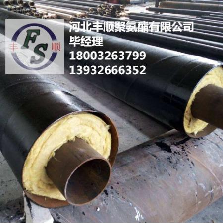 高温聚氨酯采暖保温管道 钢套钢直埋蒸汽聚氨酯保温管