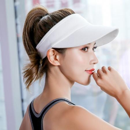夏天帽子女士防晒遮阳帽户外运动棒球帽跑步空顶帽太阳鸭舌帽子