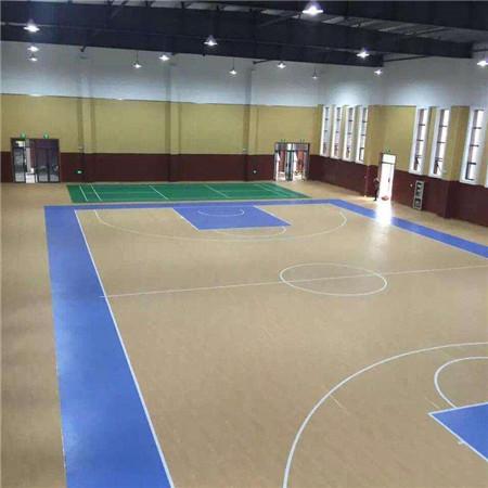 厂家促销运动木地板翻新健身房用地板篮球馆运动木地板施工