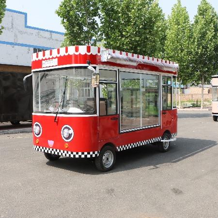 早餐鸡蛋灌饼车 冰激凌售卖置物架蒸笼移动餐车 移动快餐创业车 小型四轮餐车 超市冷饮车