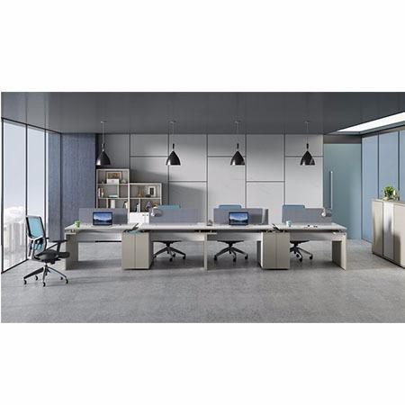 职员屏风办公桌、简约现代四人员工电脑桌椅组合办公家具
