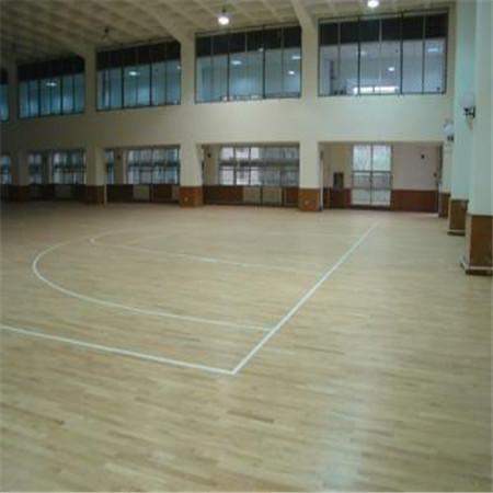 厂家定制羽毛球馆木地板舞蹈室用地板专业施工