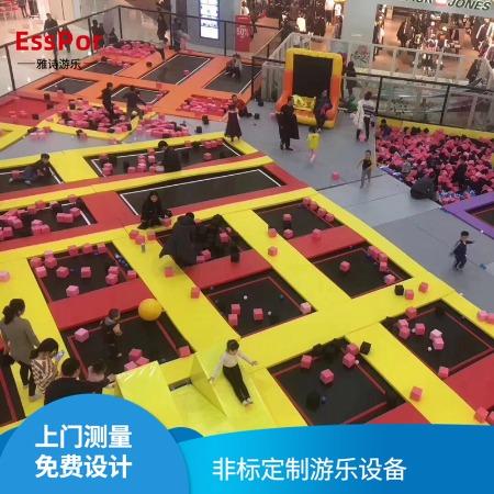 大型室内蹦床公园设备儿童粘粘乐健身儿童蹦床游乐园定制