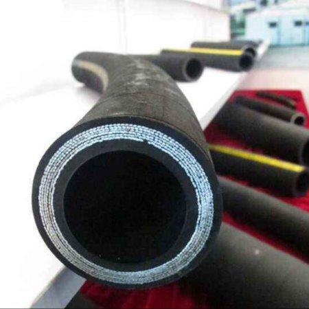 直销高压液压胶管油管 双层防腐钢丝缠绕橡胶编织管批发